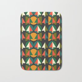 Retro Christmas trees Bath Mat