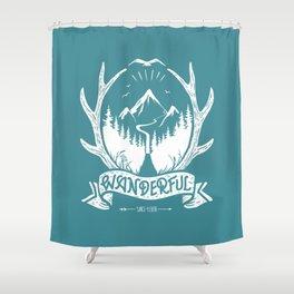 wanderful! Shower Curtain