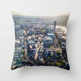 View of London from the Shard During Sunset | England Britain Cityscape Urban Landscape Photography Throw Pillow