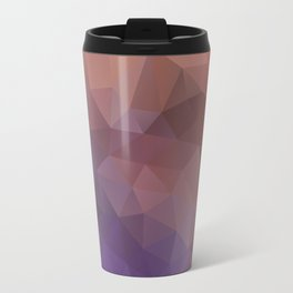 Triangles design in purple and brown colors Travel Mug
