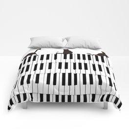 Piano Cat Comforters