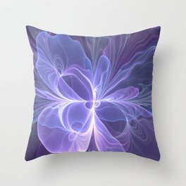 Abstract Art, Purple Fantasy Fractal Throw Pillow