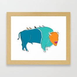 Bristol Bison Framed Art Print
