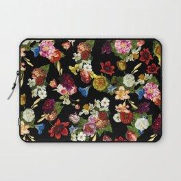 Flowery (black version) Laptop Sleeve