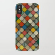 buttoned patches retro iPhone X Slim Case