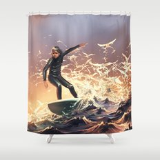 Nature emerges from her slumber Shower Curtain