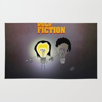movie poster Area & Throw Rugs featuring Bulb Fiction - Movie Poster by totemxtotem