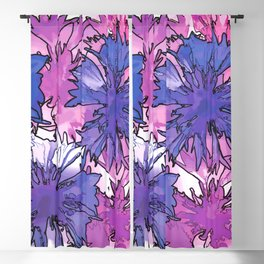 Cornflower Collage Blackout Curtain