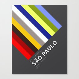 Colors of Sao Paulo Canvas Print