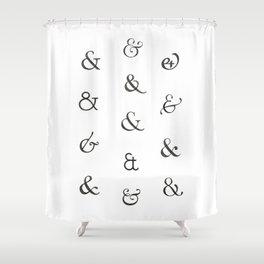 Ampersands Shower Curtain