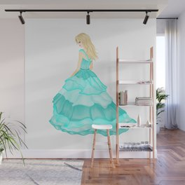 The Teal Dress Wall Mural