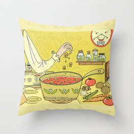 Time For Soup Throw Pillow
