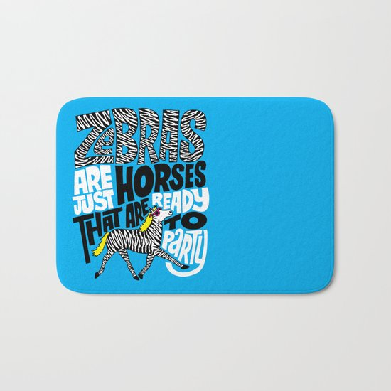 Party Horses Bath Mat