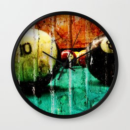 Pool and Billiards Art Wall Clock
