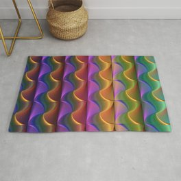 Lines of Swirls Rug