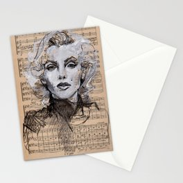 Monroe Music Sheet Stationery Cards
