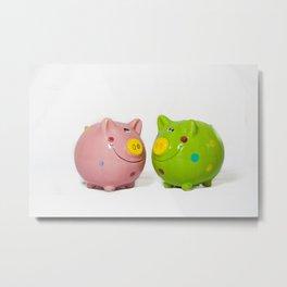 Money Pig Metal Print