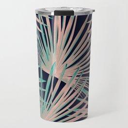 Tropical Fan Palm Leaves #5 #tropical #decor #art #society6 Travel Mug