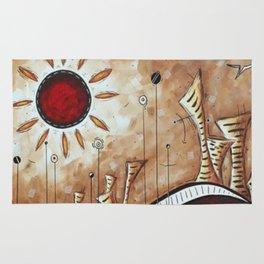Sun in the desert Rug