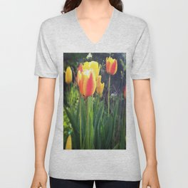 Spring Tulips in Bloom Unisex V-Neck