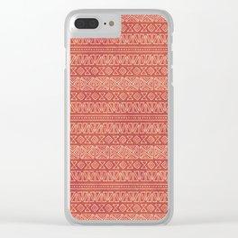 Tribal Batik in Carnelian Clear iPhone Case