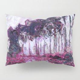 Monet Poplars on the Banks of the River Epte Purple Magenta Pillow Sham