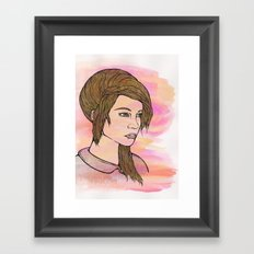 Do you love me? Framed Art Print