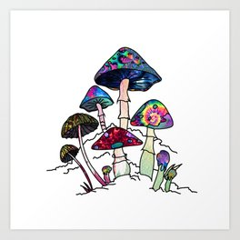 Garden of Shrooms Kunstdrucke