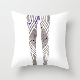 Silver & Purple Throw Pillow