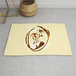 Vector bronze tulip in sunny highlights for a postcard. For decoration of floral products or congrat Rug