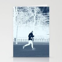 run Stationery Cards featuring run by habish