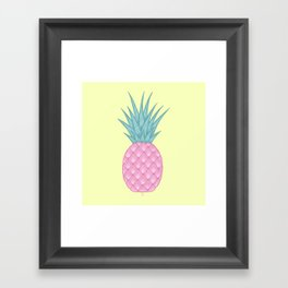 Pink pastel pineapple Framed Art Print