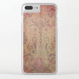 Damask Vintage Pattern 10 Clear iPhone Case
