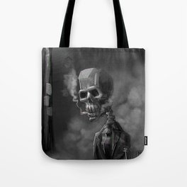 Noir Skeleton Digital Illustration Tote Bag