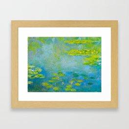 Claude Monet Impressionist Landscape Oil Painting Water Lilies Framed Art Print
