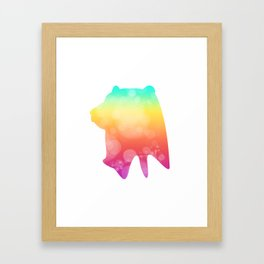 Neonimals: Bear Framed Art Print