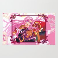 madoka Area & Throw Rugs featuring Utena La Filette Révolutionnaire by Neo Crystal Tokyo