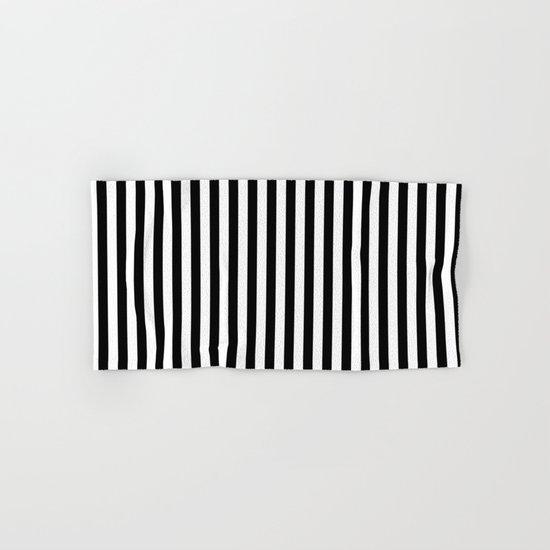 Vertical Stripes (Black/White) Hand & Bath Towel
