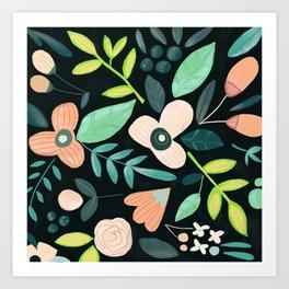 floral mood 2 Art Print