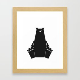 The Black Bear Framed Art Print