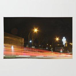 Great Northern Way East Van cross traffic blur Rug