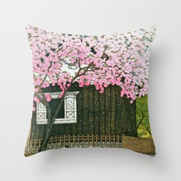 Tokyo Twelve Collection, Atago Mountain, Spring - Digital Remastered Edition Throw Pillow