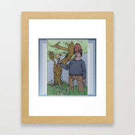 chicken hawk Framed Art Print
