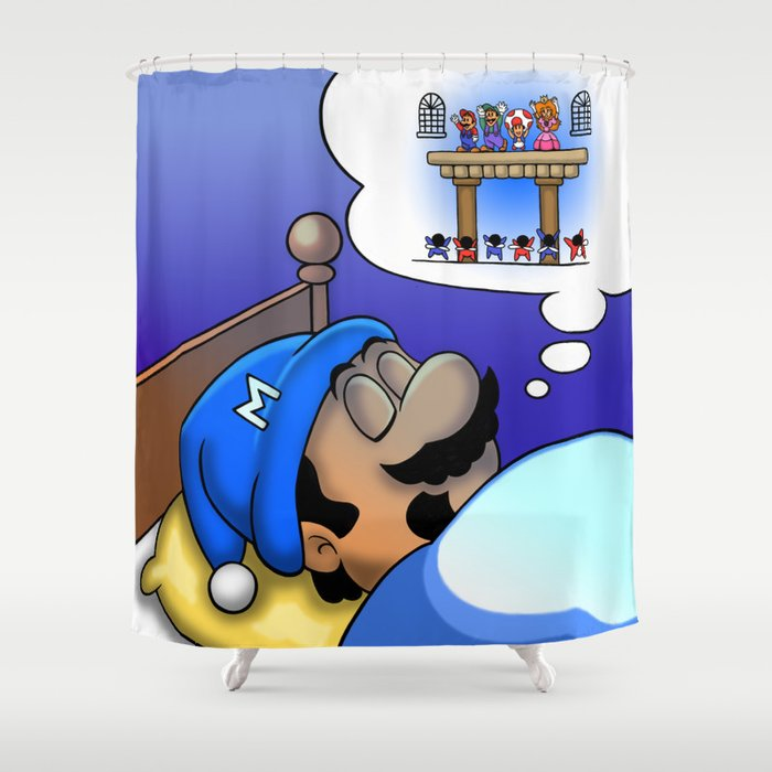 Dreaming Mario Shower Curtain