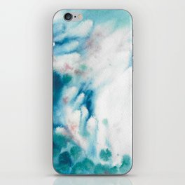 Waves of turquoise iPhone Skin
