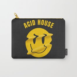 Acid Techno melted smiley | Electronic music dj gift. Carry-All Pouch