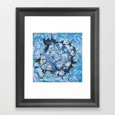 Marbled Blue Universe Framed Art Print