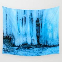 Ice curtain of the lake Baikal Wall Tapestry