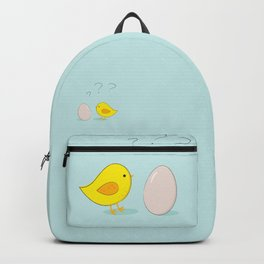 The chicken or the egg Backpack