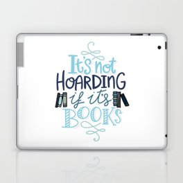 Hoarding Books Blue - Book Nerd Laptop & iPad Skin